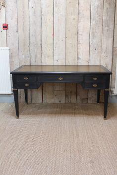Circa 1960s French Ebonised Desk Furniture Partners Deskantique Deskpersonal Libraryparlouroffice Deskhome