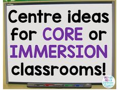 Centre ideas for FSL classrooms! Can be used in French Immersion or Core French . - Centre ideas for FSL classrooms! Can be used in French Immersion or Core French classrooms! Working on oral communication, reading, and writing! Spanish Teaching Resources, French Resources, Spanish Activities, Work Activities, School Resources, Classroom Resources, Teaching French Immersion, French Language Learning, German Language