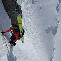 Arc'athlete Christina Lusti earning her descent in Chamonix