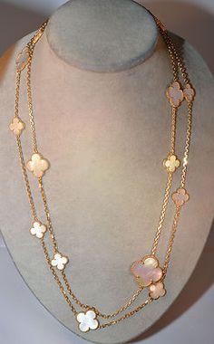 Van Cleef Arpels Magic Alhambra Long Necklace 16 Motifs | eBay