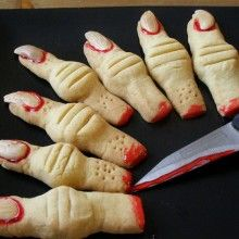"Petiscos ""Nojentos"" de Halloween"