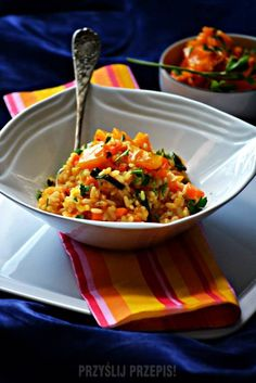 Dyniowo marchewkowe risotto Fried Rice, Risotto, Fries, Eat, Cooking, Ethnic Recipes, Kitchen, Food, Kitchens