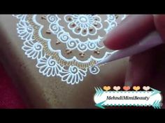 Henna box..boîte décorée en henné - YouTube
