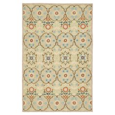 Anchor your living room seating group or define space in the den with this hand-hooked wool rug, showcasing an exotic medallion motif for eye-catching appeal...