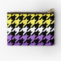 Hounds Tooth, Canvas Prints, Art Prints, Gifts For Family, Zipper Pouch, Chiffon Tops, Zip Around Wallet, Classic T Shirts, Printed