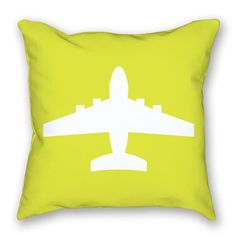 Have a commercial pilot in your family? Here's the perfect  throw pillow for your home. https://www.littlepilotslounge.com/collections/pillows/products/bright-airplane-pillow-4?variant=17132251846