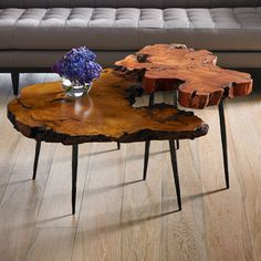 Makha Burl-Wood Coffee Table, Natural - Phillips Collection - Brands One Kings Lane Best Home Interior Design, Luxury Home Decor, Log Furniture, Woodworking Furniture, Wooden Slab Table, Brass Coffee Table, Coffee Tables, Farmhouse Style Decorating, Wood Glass