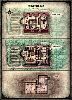 Curse of Strahd - Map of the Wachterhaus