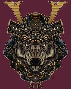 """Ouroboros - """"Wild Samurai I"""": Be a wolf, be a hero (by thedisaster)."""