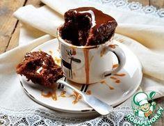 Рецепт: Шоколадный кекс в СВЧ за 2 минуты