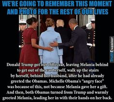 Idk if it's true or not about Michelle's face, but where are your manners Donald?