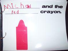 H day class book. Harold and the purple crayon. Beginning Of School, Back To School, School Stuff, Crayon Book, Purple Crayon, Red Crayon, Kindergarten Rocks, Name Activities, Chalk Talk