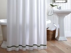 Bathroom Curtains With Black Trim