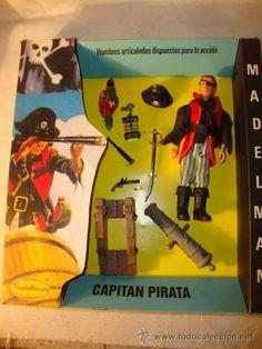 ¡¡LOS ORIGINALES!! MADELMAN ORIGINAL MADEL AÑOS 70 1ª SERIE EQUIPO BASICO CAPITAN PIRATA DICK TUERTO