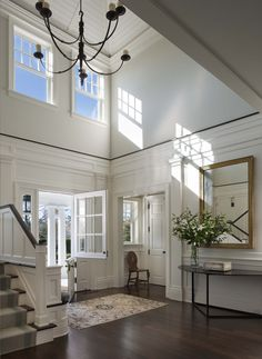 Entry Foyer - A Summer Cottage in the Hamptons - John B. Murray Architect - Interior Design by Victoria Hagan - Photography by Durston Saylor