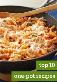 Top 10 One-Pot Recipes — One-pot and skillet recipes are easy to make and even easier to clean up. No wonder these easy recipes are a family fave when it's time for dinner.
