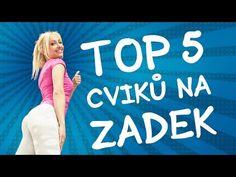 TOP 5 CVIKŮ PRO PEVNÝ ZADEK - YouTube Top 5, Glutes, Health Fitness, Train, Workout, Youtube, Legs, Work Out, Fitness