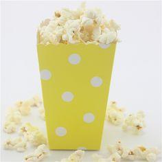 Yellow Paper, Paper Straws, Color Schemes, Polka Dots, Popcorn Boxes, R Color Palette, Colour Schemes, Polka Dot, Dots