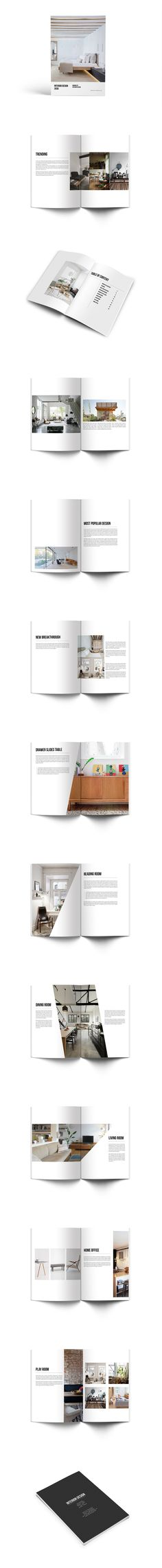 Interior Design Brochure Catalog Template InDesign INDD - 24 Pages