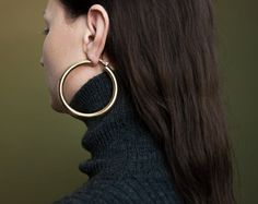 gold oversized hoops
