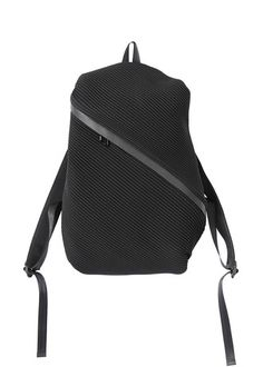 Cool idea for a laptop bag Bias Pleats Backpack - Issey Miyake