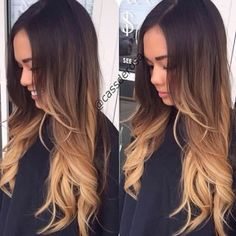 светлые волосы, коричневый, девушка, волосы, омбре, подросток