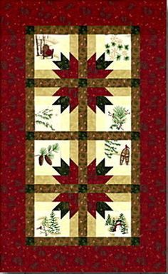 HOLIDAY-IN-THE-PINES-TABLE-RUNNER-QUILT-KIT-Pattern-Moda-Fabric-Holly-Taylor