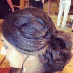 updo with blue