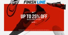 Onine only : Up to 25% #Off select nike styles.  Store : #FinishLine Scope: Entire Store Ends On : 11/27/2016    Get more deals: http://www.geoqpons.com/Finish-Line-coupon-codes  Get our Android mobile App: https://play.google.com/store/apps/details?id=com.mm.views    Get our iOS mobile App: https://itunes.apple.com/us/app/geoqpons-local-coupons-discounts/id397729759?mt=8