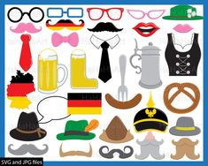 Germany Props oktoberfest - Cutting Files SVG JPG Digital Graphic Design Instant Download Commercial Use Photo Booth Funny Fun Beer (00992c) Craft Supplies & Tools photo booth vector wedding photobooth birthday party fun hat germany german prop beer girl flag oktoberfest travel print travel berlin traditional mustache mug decoration food Silhouette Studio cricut cameo clipart european europe svg image Bavaria svg Canvas & Surfaces Paper Collage Sheets Beer Girl, Art Clipart, Photo Booth Props, Travel Themes, Digital Stamps, Germany, Clip Art, Graphic Design, Prints