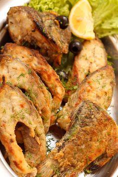 Kapor vo farebnom cestíčku Tandoori Chicken, Fish Recipes, Chicken Wings, Meat, Ethnic Recipes, Fish Food, Czech Republic, Red Peppers, Beef