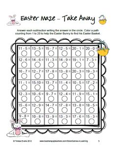 Fun Games 4 Learning: Easter Math Freebies Happy Easter!