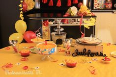 mickey club house party birthday sweet table