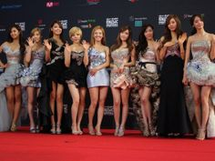 Girls' Generation at the 2011 MAMA Awards in Singapore.