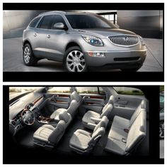 Buick Enclave, love all the space, and drives so nice. I Love mine. Captain chairs second row is a must with the car seats for the littles.