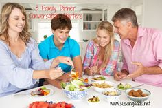 3 Family Dinner Conversation Starters: Do you long for conversations with your kids that really mean something? Try these 3 family dinner conversation starters for Christian families. #family_dinner #God #conversation_starters