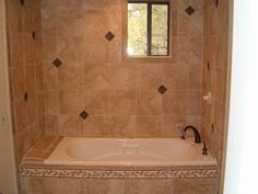 tile floor images | All Around Floorings | bathroom-tub-diamond-tile-wall
