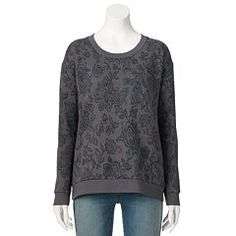 SONOMA life + style® Floral Crewneck Sweatshirt - Women's