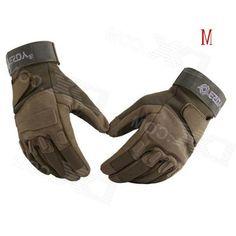 Esdy HYM-2 Outdoor Sports / Cycling / Hunting Full-Finger Pu Tactical Gloves - Army Green (M / Pair)