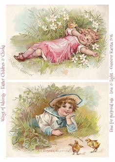 Victorian Easter Children & Chicks