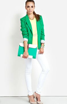 shades of green + white