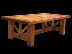 Rustic Mountain Barnwood Farmhouse Trestle Table