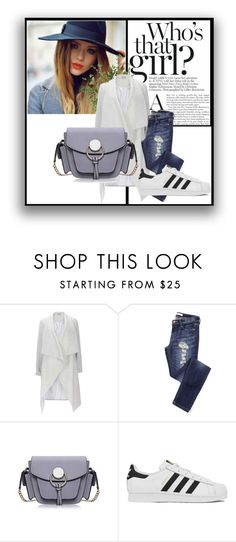 """"""".."""" by alma-mesic on Polyvore featuring adidas, Diane James, women's clothing, women's fashion, women, female, woman, misses and juniors"""