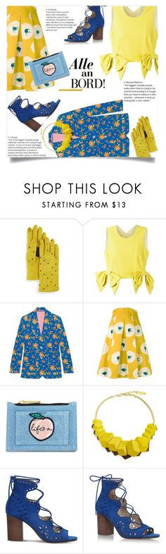 """""""Beyond the Circle"""" by la-belle-folie ❤ liked on Polyvore featuring Echo, MSGM, Gucci, Eggs, Skinnydip, Lafayette 148 New York and Nine West"""