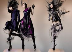 Ming Xi, Xiao Wen & Wang Xiao Are Swept Away for Lane Crawfords Fall 2012 Campaign by Nick Knight