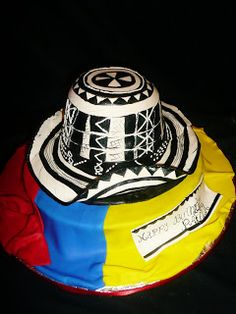www.RoxanasCakes.com: Colombian Hat ( Sombrero Colombiano) Colombian Dishes, Colombian Food, Beautiful Cakes, Amazing Cakes, Latin Party, Hispanic Art, Bithday Cake, Foundant, 70th Birthday Parties