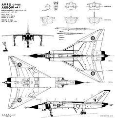 Shop Avro Arrow Blueprints Poster created by YankCanuck. Ww2 Aircraft, Fighter Aircraft, Military Aircraft, Fighter Jets, Aircraft Parts, Navy Aircraft, Airplane Sketch, Airplane Drawing, Avro Arrow