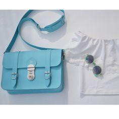 Light Blue -ATHENS, graph satchel www.grafea.co.uk