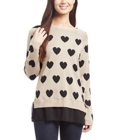 This Allie & Rob Stone & Black Heart Tunic by Allie & Rob is perfect! #zulilyfinds