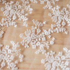 Free Shipping Three-dimensional cotton embroidery lace fabric white black gauze diy wedding dress fabric width 130cm #Affiliate